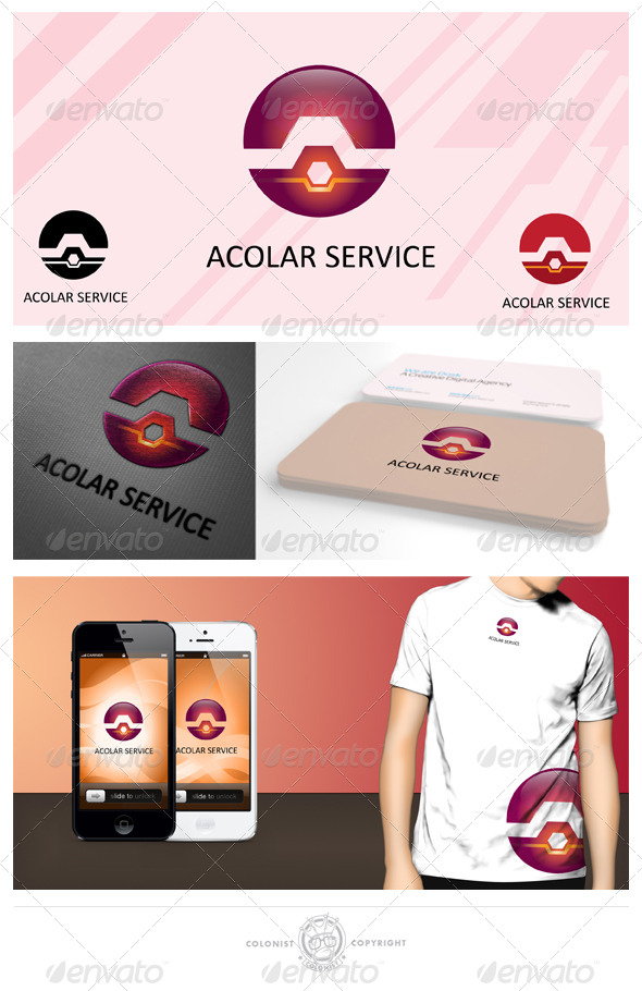 Acolar Service Logo - Vector Abstract