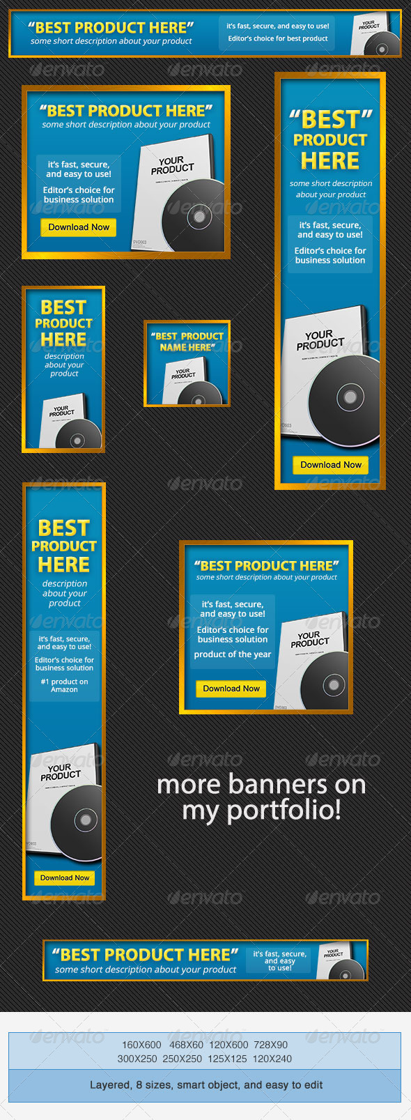 Product Banners Ad PSD Template - Banners & Ads Web Elements