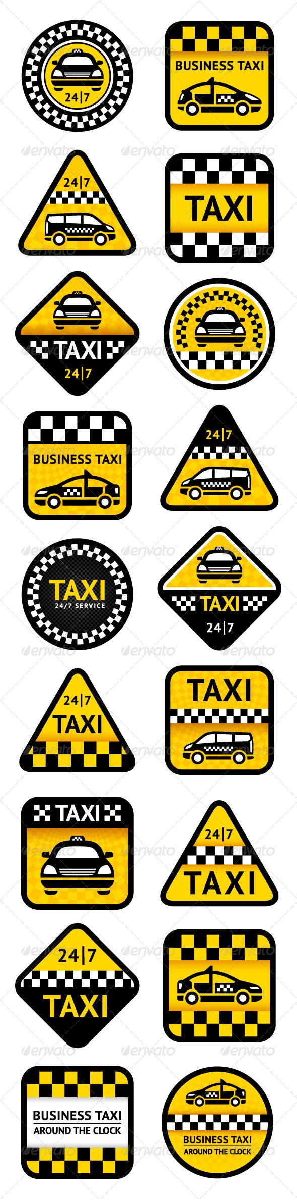 Taxi Set 18 pcs - Commercial / Shopping Conceptual