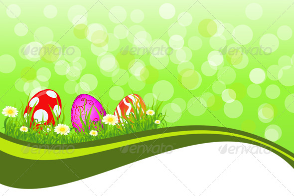 Greeting Easter background - Seasons/Holidays Conceptual