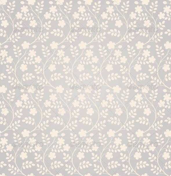 Elegant Seamless Floral Pattern - Patterns Decorative