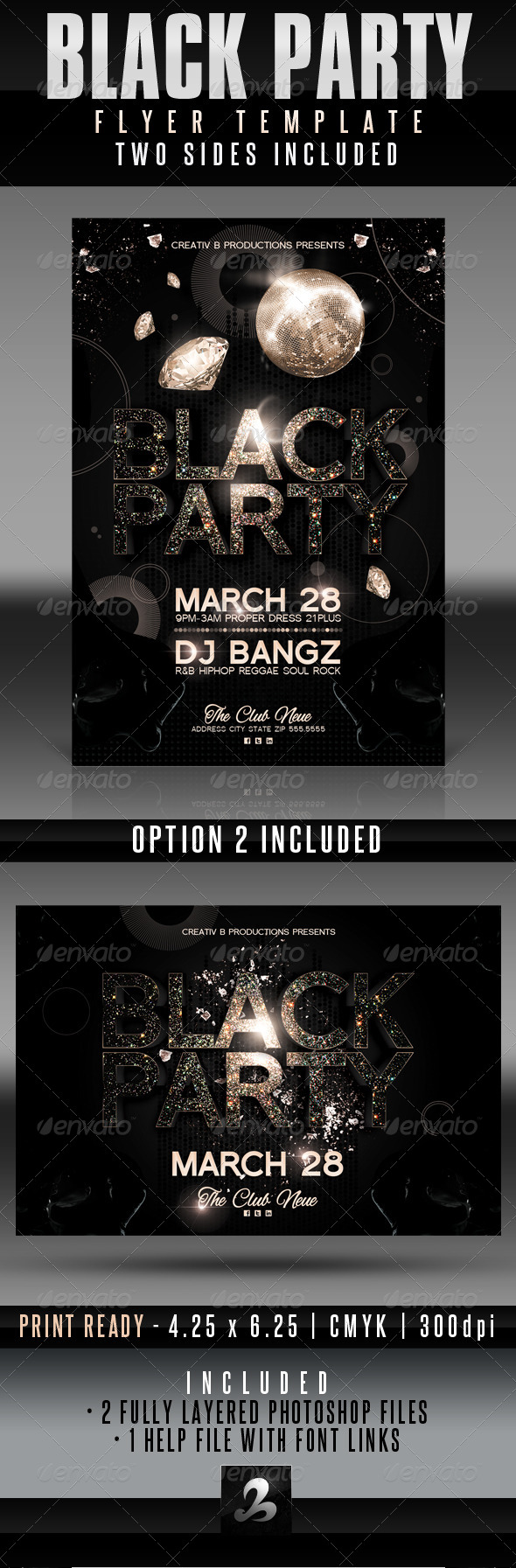 Black Party Flyer Templates - Clubs & Parties Events
