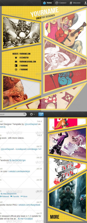 Gallery on Twitter Background - Twitter Social Media