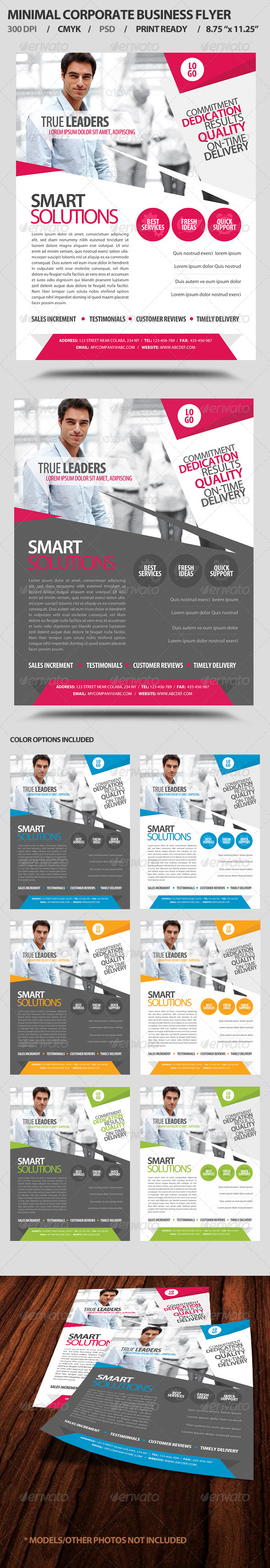 Minimal Corporate Business Promotion Flyer - Corporate Flyers