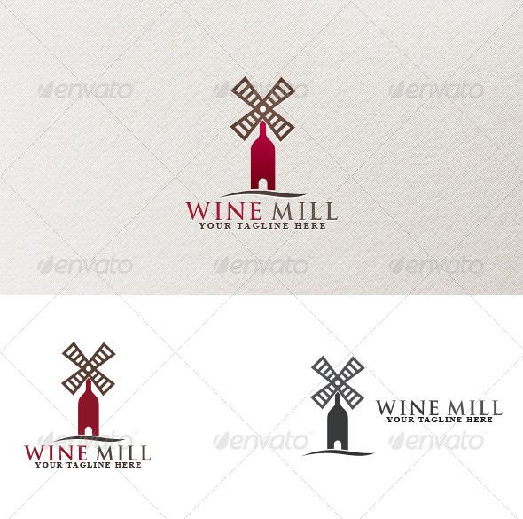 Wine Mill - Symbols Logo Templates