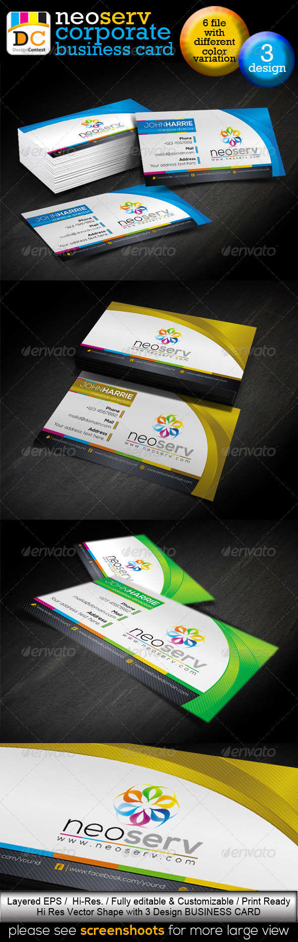 NeoServ_Corporate Creative Business Cards - Corporate Business Cards