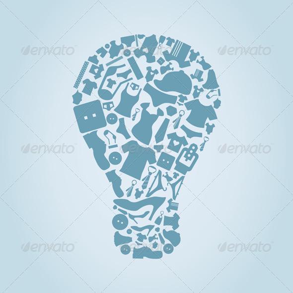 Clothes Bulb - Miscellaneous Vectors