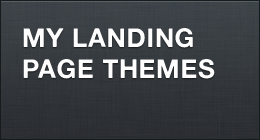 My Landing page themes