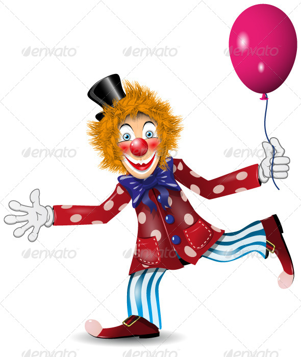 Cheerful Clown - People Characters