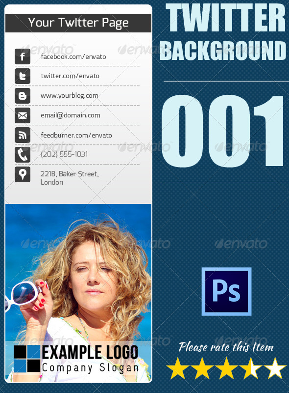 Twitter Background 001 - Twitter Social Media