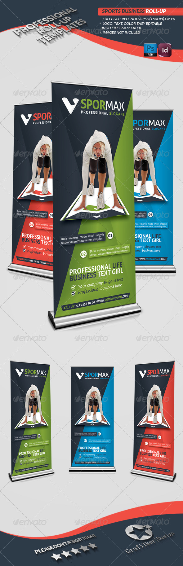 Sports Roll-Up Templates - Signage Print Templates