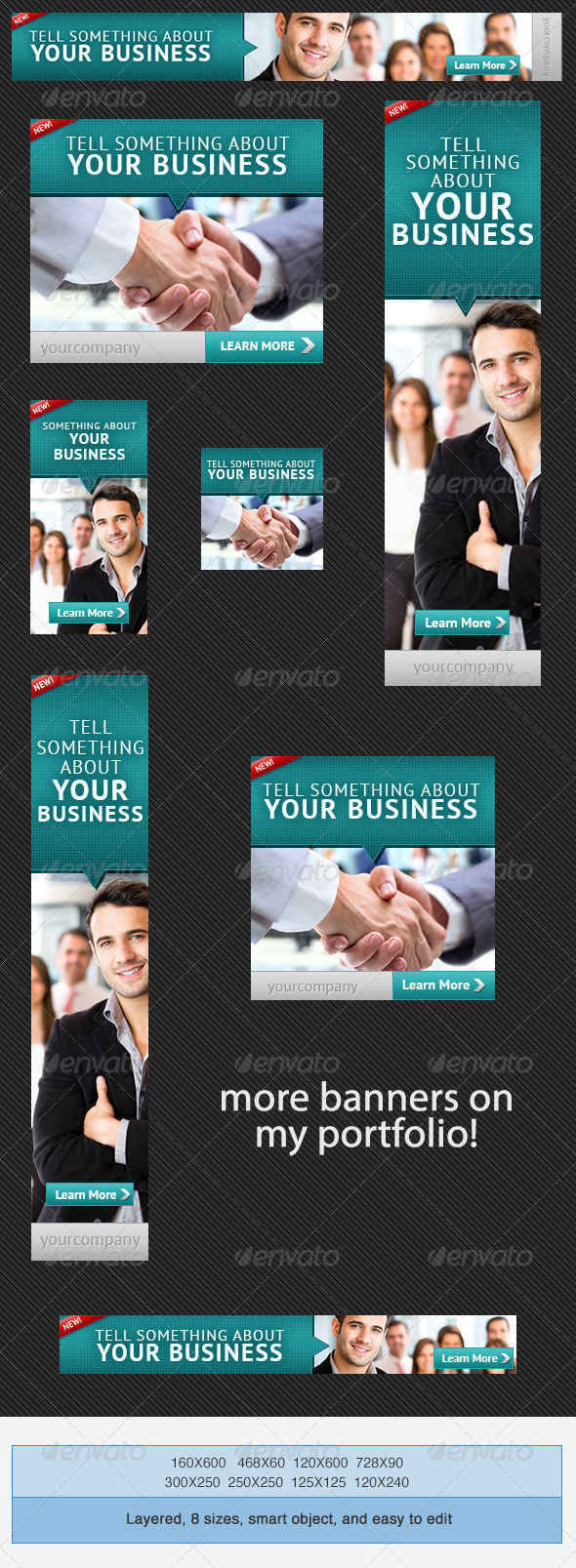 Corporate PSD Banner Ad Template 3 - Banners & Ads Web Elements