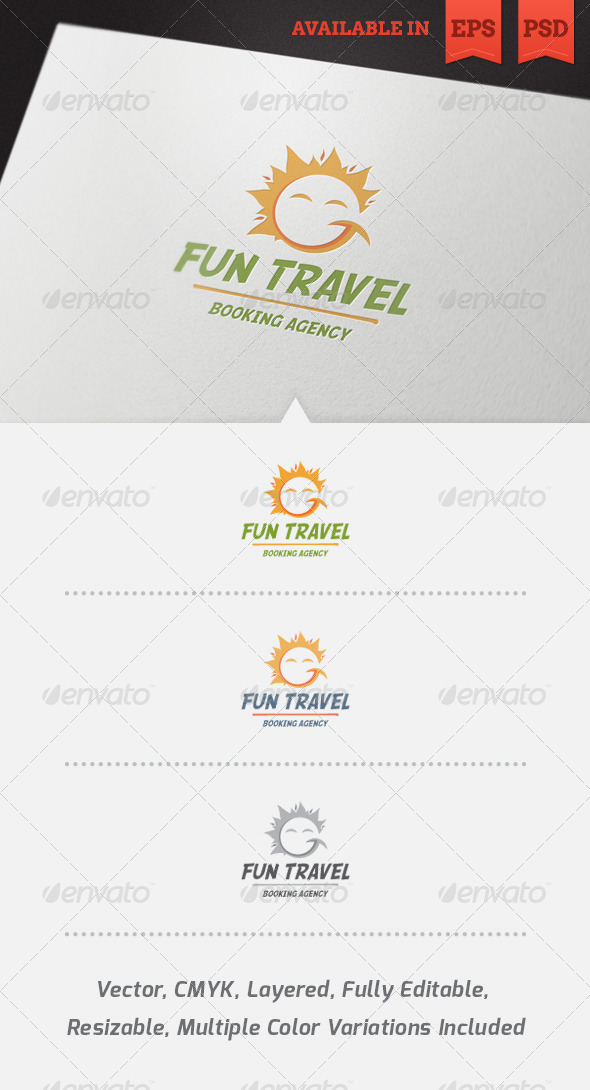 Fun Travel Logo Template V2 - Nature Logo Templates