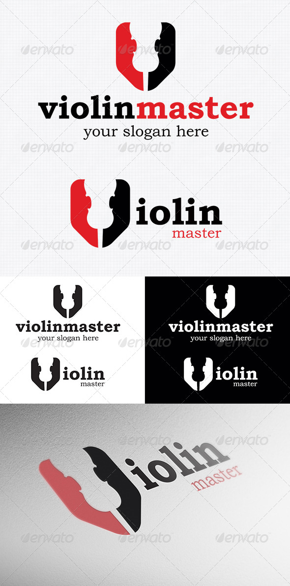 Violin Logo Template - Objects Logo Templates