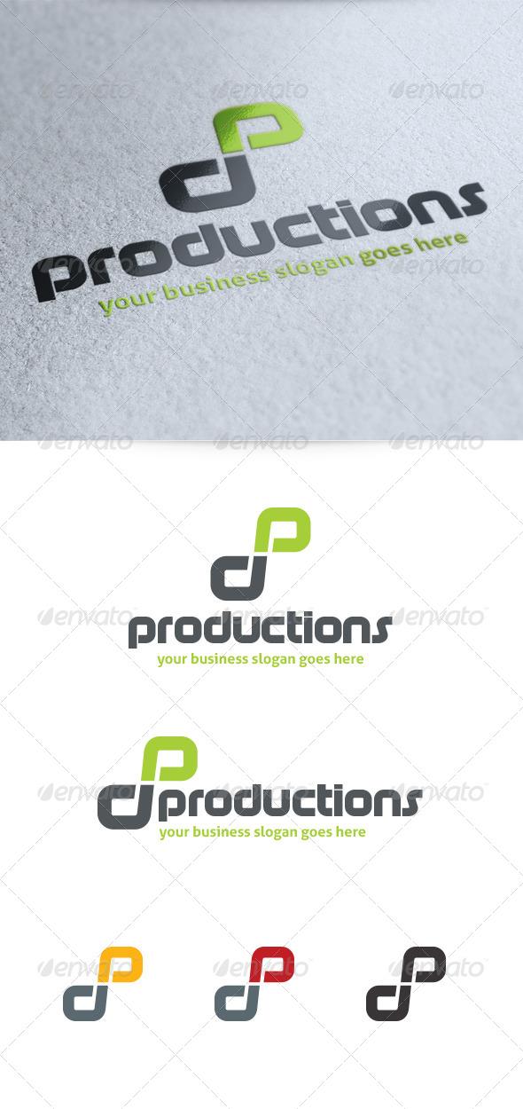 Letter P Productions Logo - Letters Logo Templates