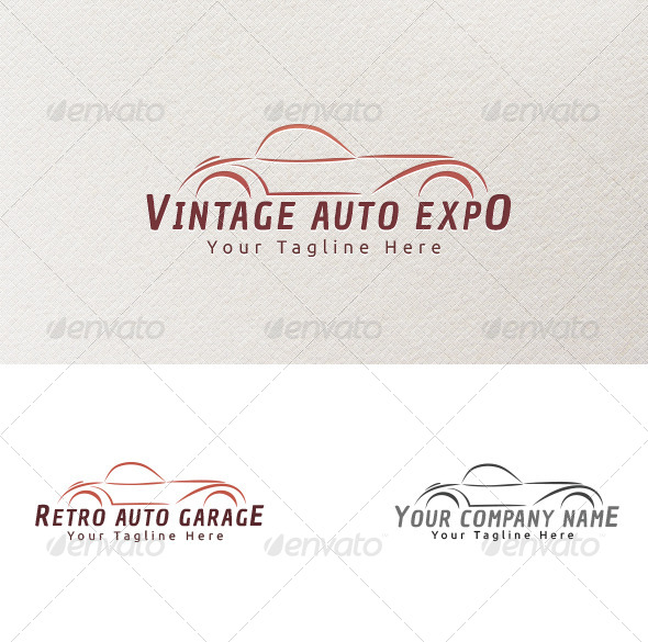 Vintage Cars - Logo Template - Objects Logo Templates