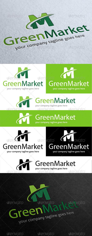 Green Market Logo - Letters Logo Templates
