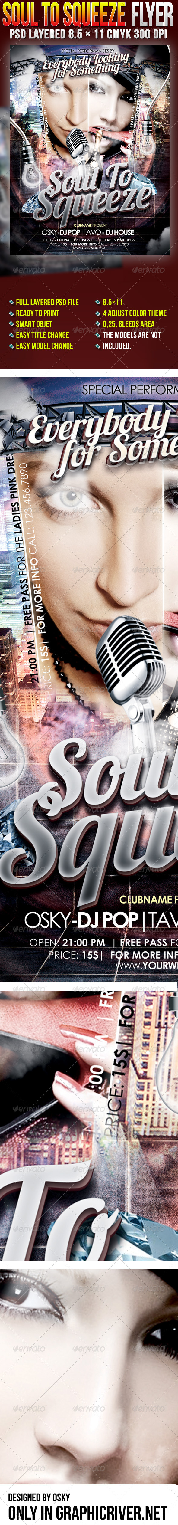 Soul To Squeeze - Clubs & Parties Events