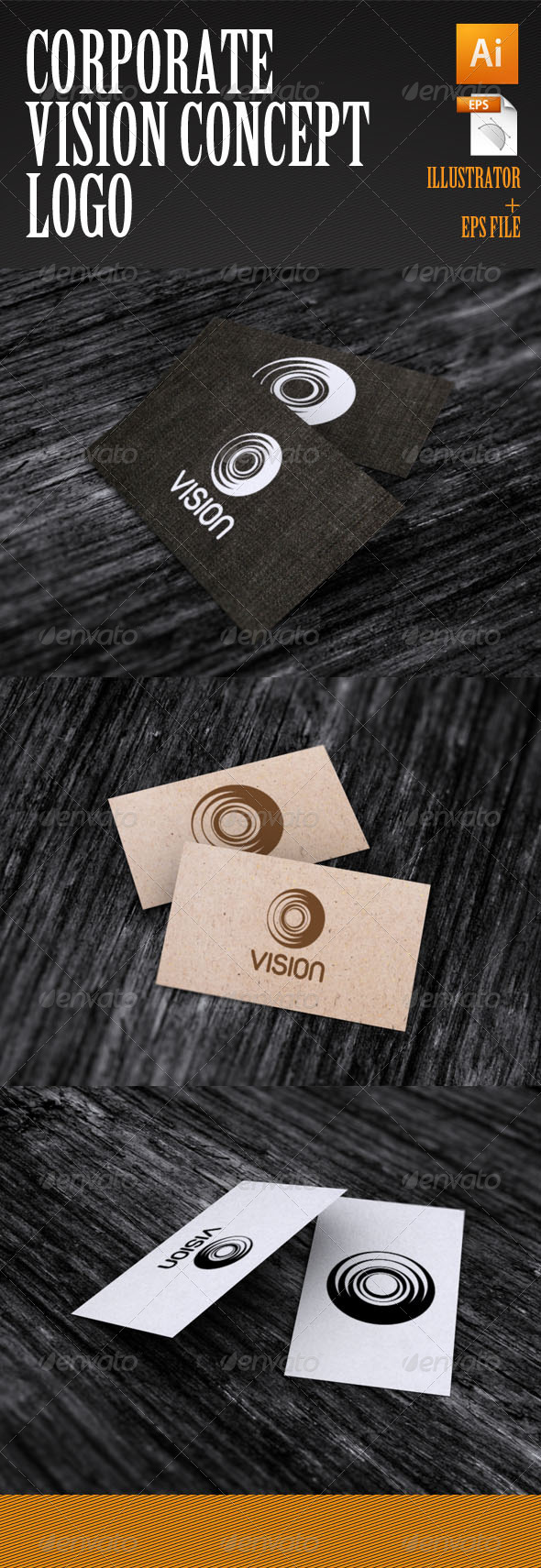 Corporate Vision Concept Logo - Abstract Logo Templates