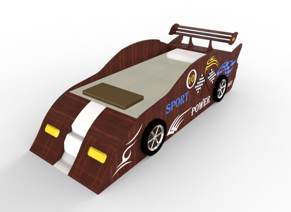 Sport Racing Car Bed - 3DOcean Item for Sale