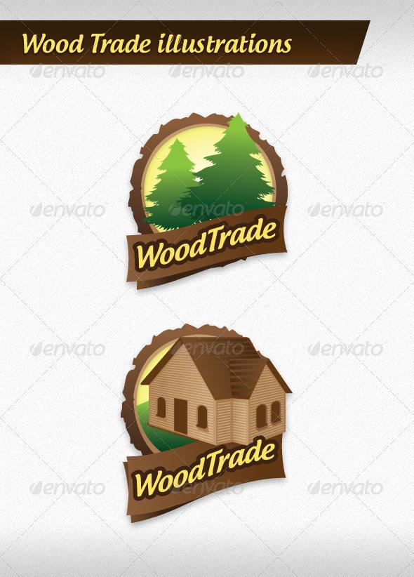 Wood Trade Illustrations - Conceptual Vectors