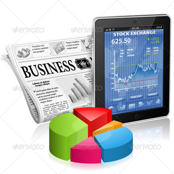 Business and News Concept - Computers Technology