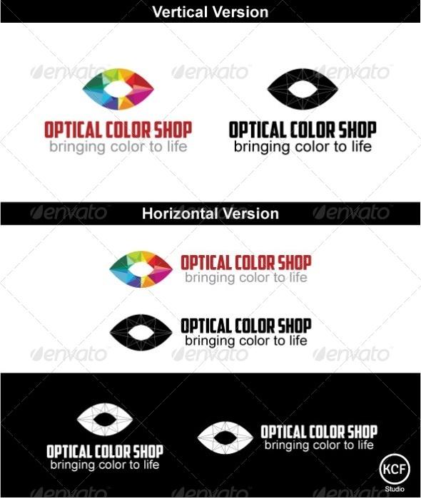 Optical Color Shop Logo Design - Vector Abstract