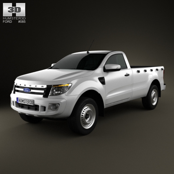 Ford Ranger Single Cab 2012 - 3DOcean Item for Sale