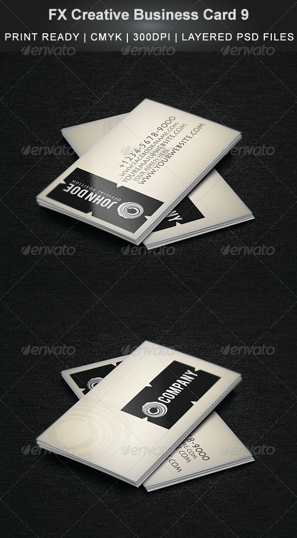 FX Creative Business Card 9 - Business Cards Print Templates