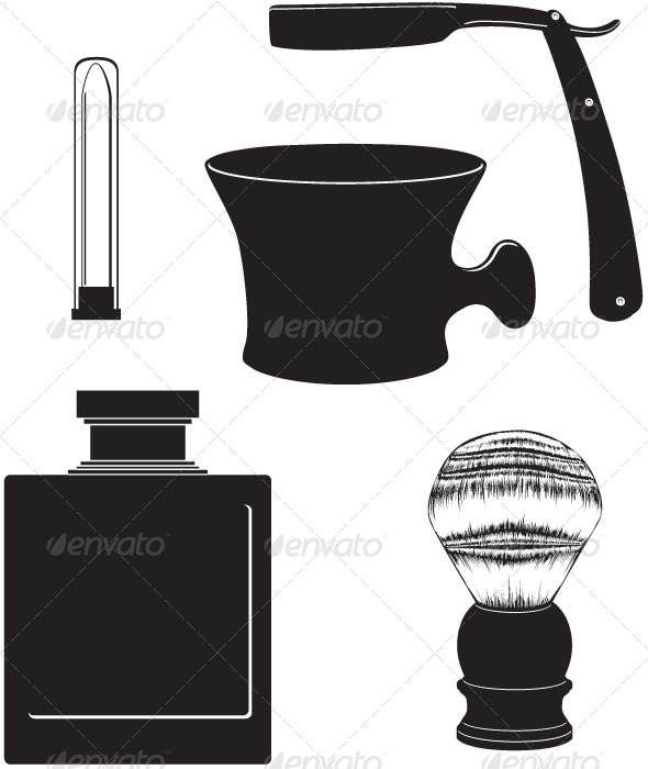 Classic Shaving Vector Set - Man-made Objects Objects
