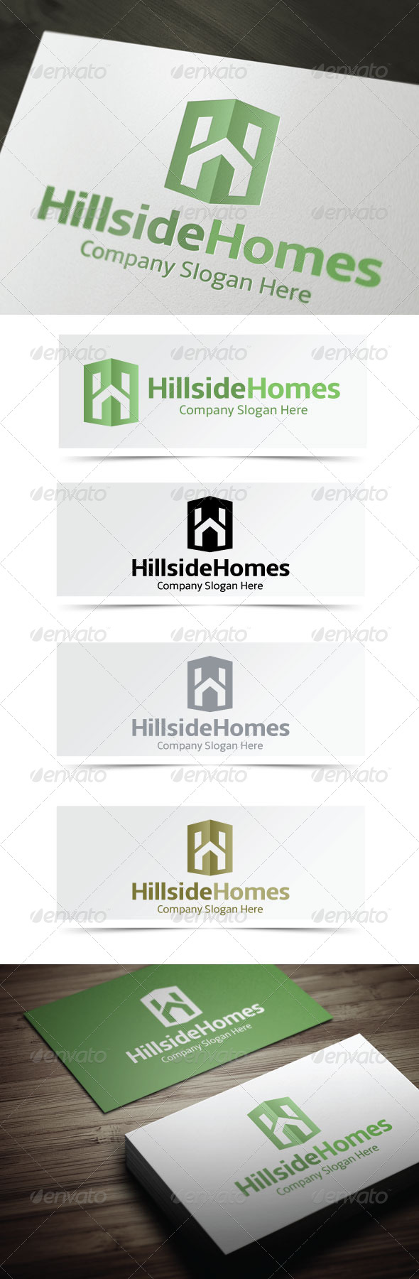 Hillside Homes - Letters Logo Templates