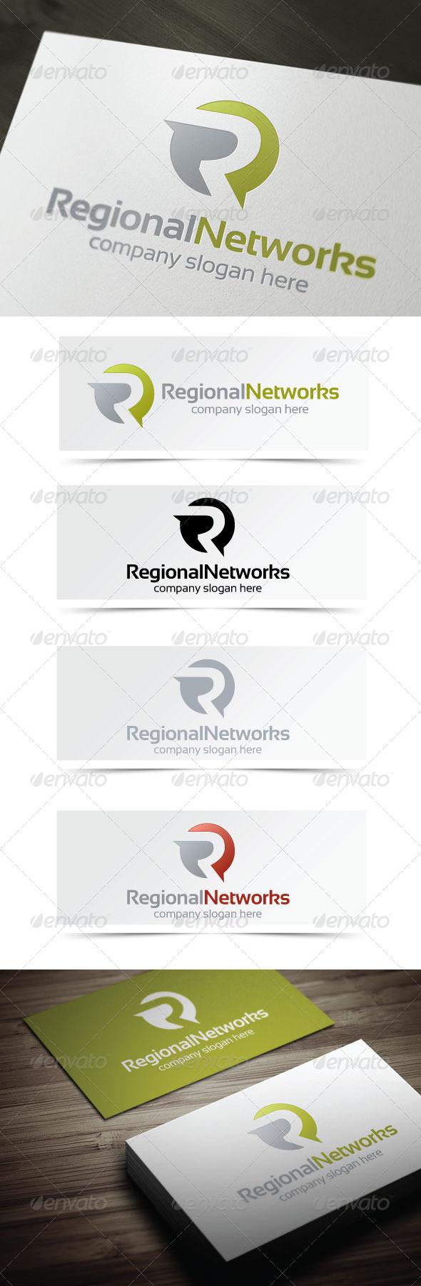 Regional Networks - Letters Logo Templates