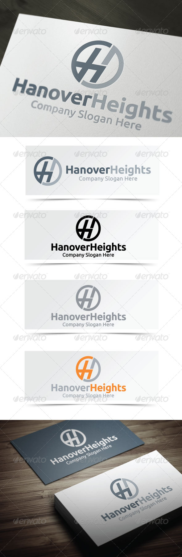 Hanover Heights - Letters Logo Templates