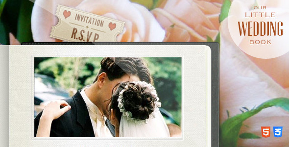 Our Little Wedding Book - HTML5 Template
