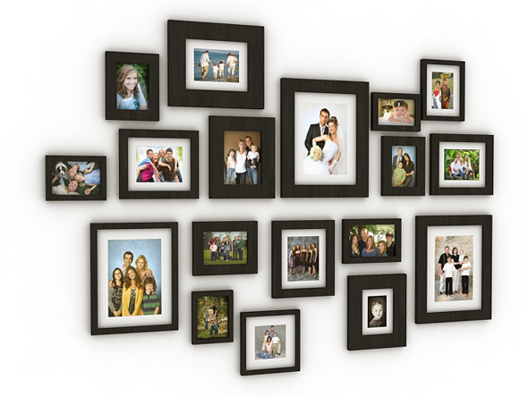 Wall Photo Frames - 3DOcean Item for Sale