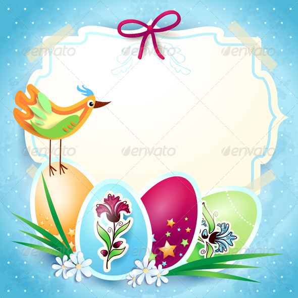 Easter Background with Custom Label - Seasons/Holidays Conceptual