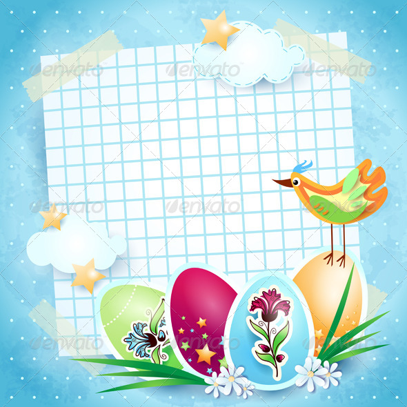 Easter Background with Custom Paper - Seasons/Holidays Conceptual