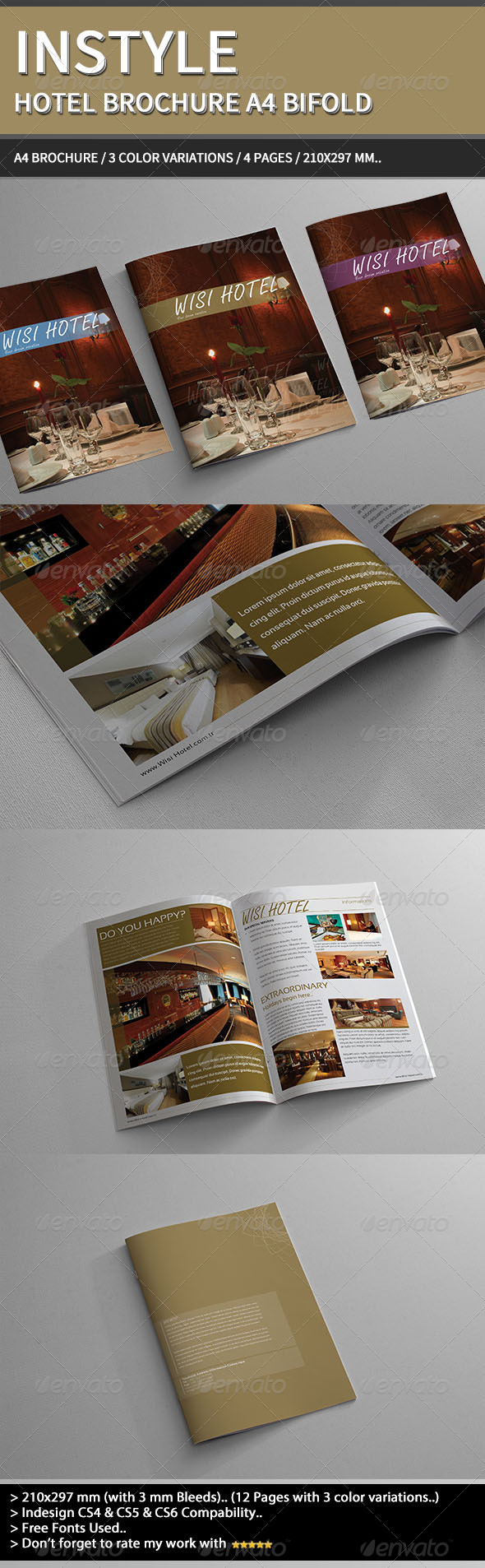 InStyle Hotel Brochure A4.. - Informational Brochures