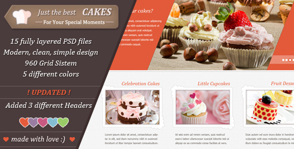 Just Cakes / PSD Theme - Retail PSD Templates