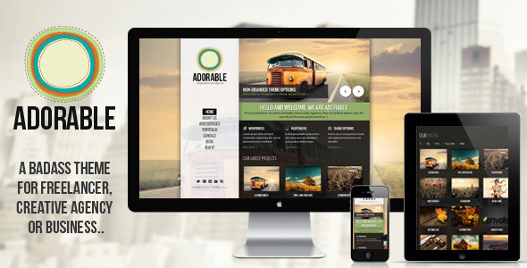 ADORABLE – Clean and Responsive WordPress Theme
