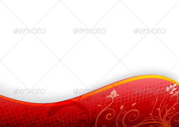 Abstract Floral Background - Flourishes / Swirls Decorative