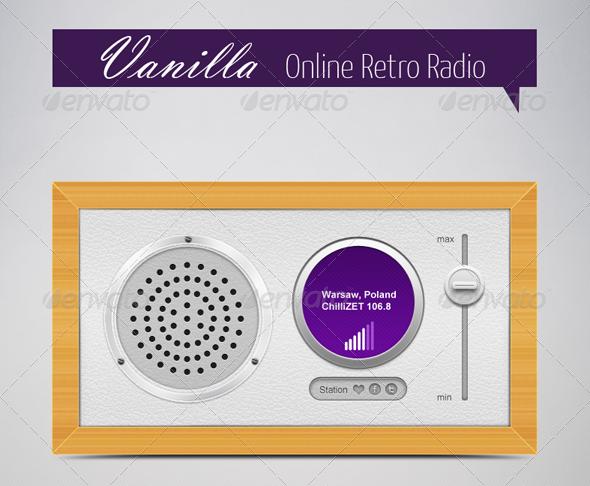 Vanilla Online Retro Radio - Objects Illustrations