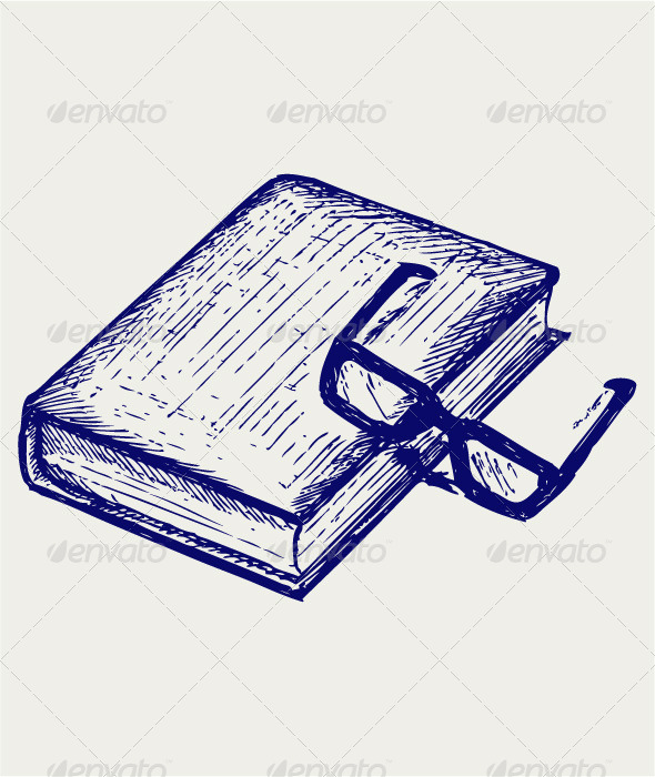 Book and Glasses - Miscellaneous Vectors