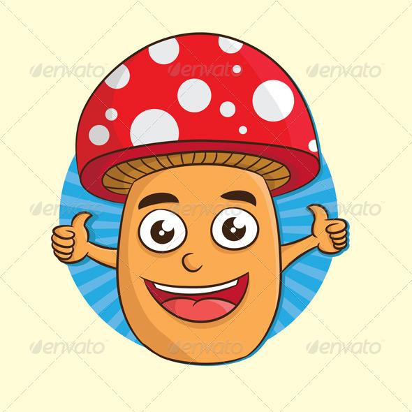 Mushroom Thumb Up - Organic Objects Objects