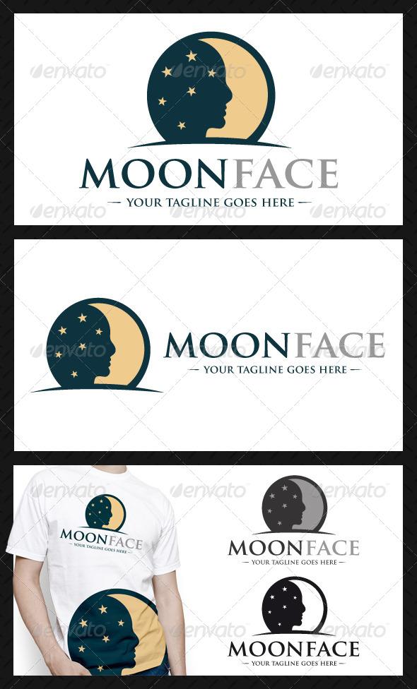 Moon Face Logo Template - Humans Logo Templates