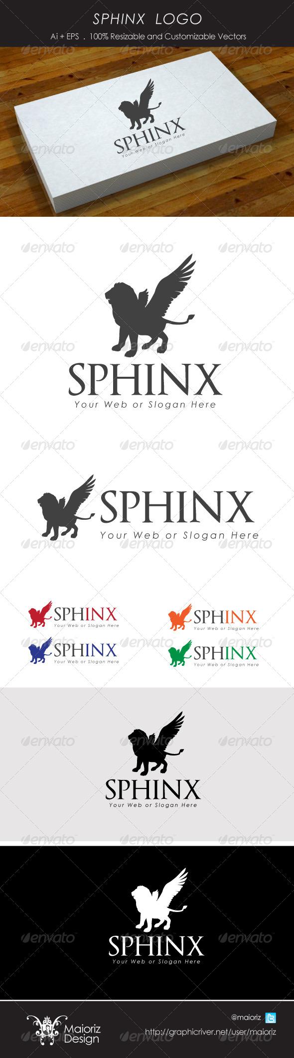 Sphinx Logotype - Animals Logo Templates