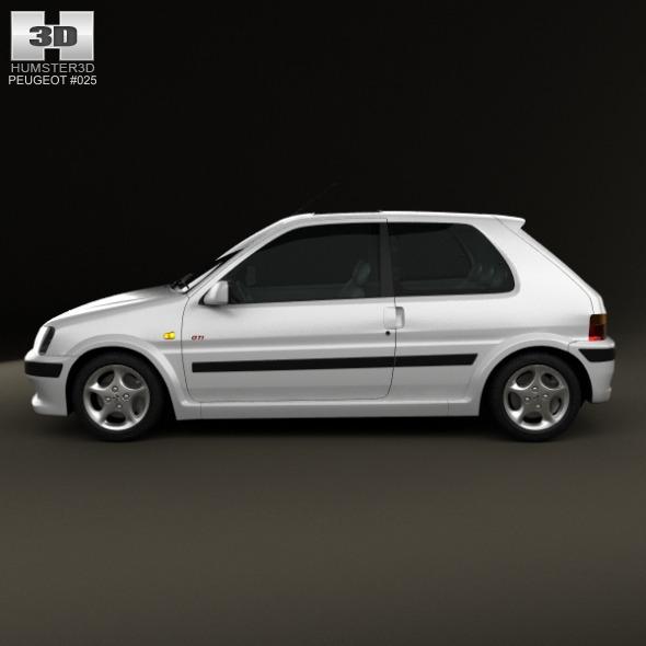 Peugeot 106 gti 3 door 1997 by humster3d 3docean for 106 door