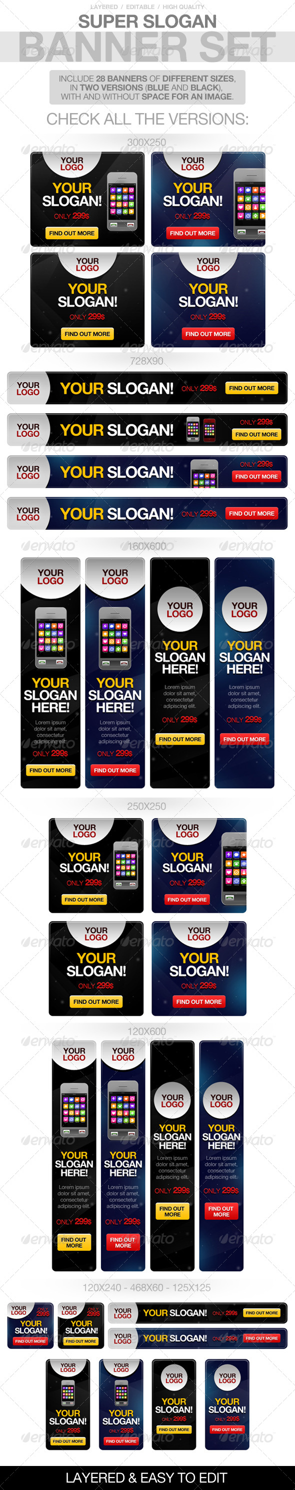 Slogan Banners - Banners & Ads Web Elements