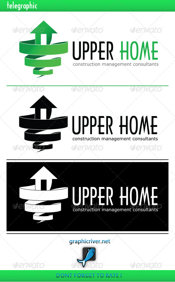 Upper Home Construction consultant logo - Buildings Logo Templates
