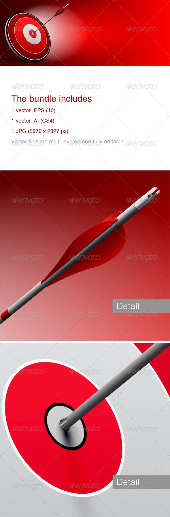 Target and Arrow Background - Vectors